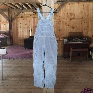 Pinstripe overalls
